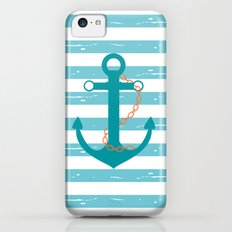 AFE Nautical Teal Ship Anchor Slim Case iPhone 5c