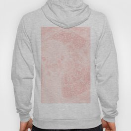 Ghostly alpaca and butterfly with mandala in Rose Quartz Hoody
