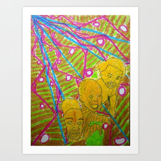 Sea of Fish Art Print