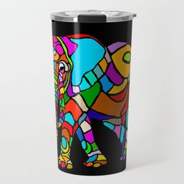 Rainbow Elephant Travel Mug