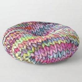 Knit Print Floor Pillow