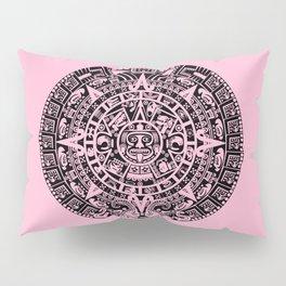 Mayan Calendar // Pink Pillow Sham