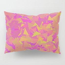 Pink, Orange, and Yellow Triangles Pillow Sham