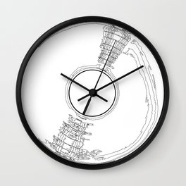 Record Label Sketch Wall Clock