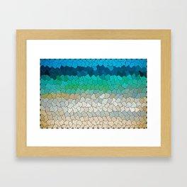 SEA MOSAIC Framed Art Print