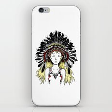 Native American Girl (colored) iPhone & iPod Skin