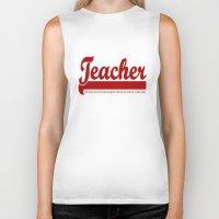 teacher Biker Tanks featuring Teacher Humor by The Spunky Teaching Monkey- Teacher Stor