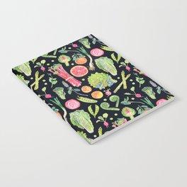 Spring Harvest Pattern Dark Notebook