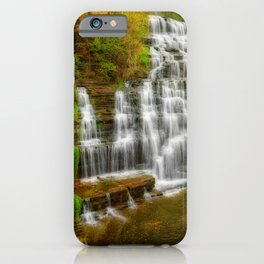 Photos New York City USA Hector falls Nature Waterfalls Parks park iPhone Case