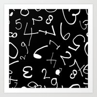 numbers Art Prints featuring numbers by beautifyprints