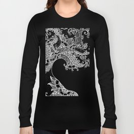 Zen Tree Rebirth Black Right Half Long Sleeve T-shirt