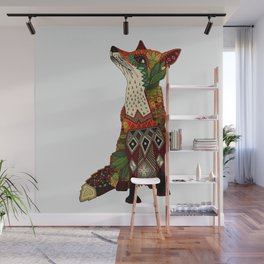 fox love off white Wall Mural