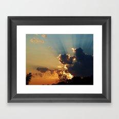 Glory in the Sky Framed Art Print
