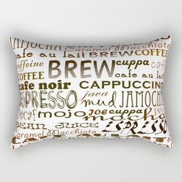 Coffee - In So Many Words Rectangular Pillow