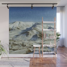 Mountain covered in snow Wall Mural