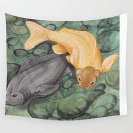 The Golden Carp Wall Tapestry