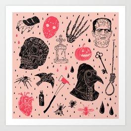 Whole Lot More Horror Art Print