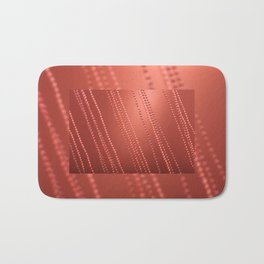 Red abstract awry chains Bath Mat