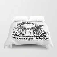alone Duvet Covers featuring Alone by Karina O'Brien