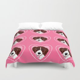 Beagle Love Pattern Art Duvet Cover