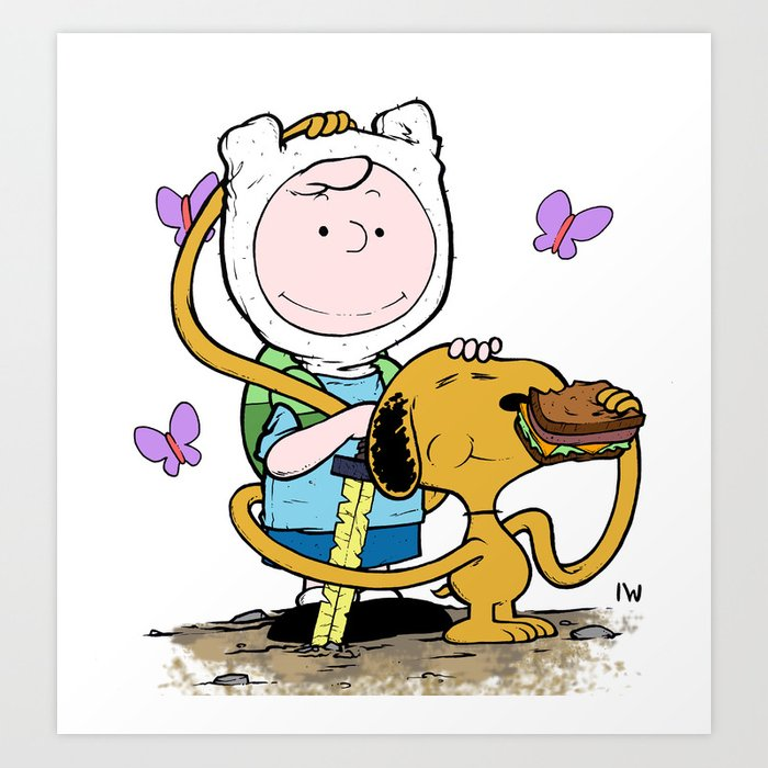 63553bddf3a0bb Peanuts Time with Charlie and Snoopy Art Print by ianwestart