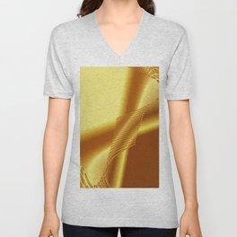 Shiny golden Unisex V-Neck