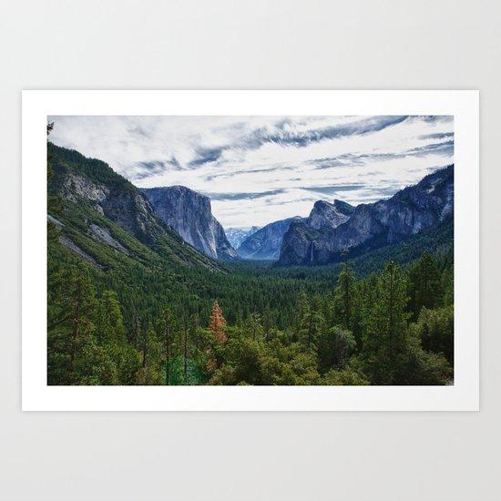 Yosemite Valley View Art Print