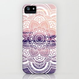 Water Mandala Amethyst & Mauve iPhone Case