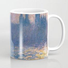 1903-Claude Monet-Houses of Parliament, Sunlight Effect (Le Parlement, effet de soleil) Coffee Mug