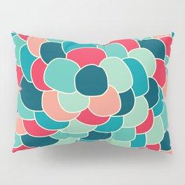 Petals (Aqua Red) Pillow Sham