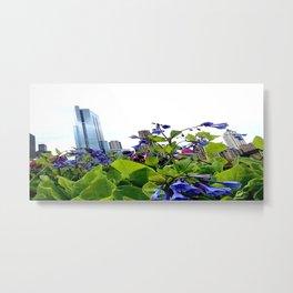 City Garden Metal Print