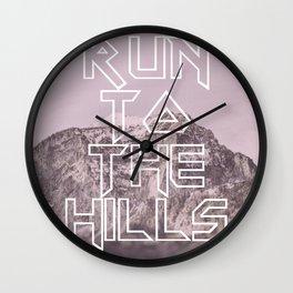 Run To The Hills Wall Clock