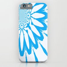 White and Blue Modern Flower Slim Case iPhone 6s