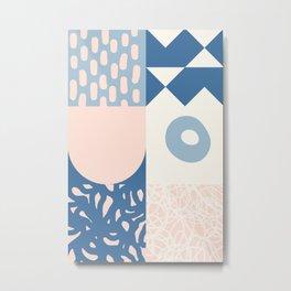 Abstract Naive Composition 010 Metal Print