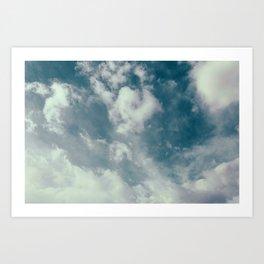 Soft Dreamy Cloudy Sky Art Print