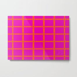 Alium 3 - Delayed Color Contrast Optical Illusion Grid Metal Print