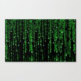 Matrix Binary Code Leinwanddruck