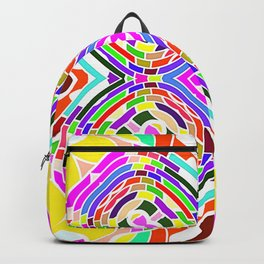 Modern Colorful abstract Pattern SB84 Backpack