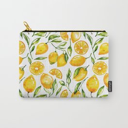 lemon watercolor print Carry-All Pouch