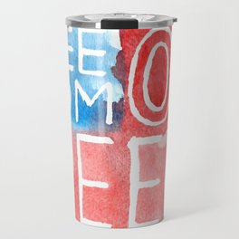 Freedom of Speech - Watercolor Flag Travel Mug