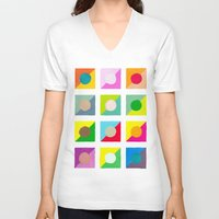 watercolour V-neck T-shirts featuring WaterColour by VentureDesign
