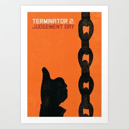 Terminator 2 Judgement Day Vintage Poster Art Print