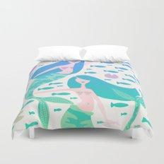 Koi Mermaids – Turquoise Ombré Palette Duvet Cover