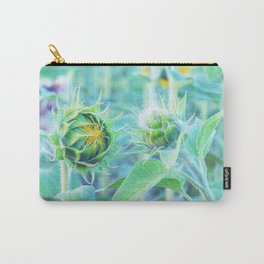 sunflower - turquoise Carry-All Pouch
