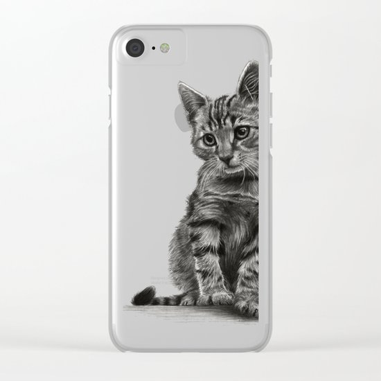 Kitty - PENCIL DRAWING Clear iPhone Case