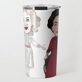 Whatever Happened to Baby Jane, Bette Davis, Joan Crawford Inspired Illustration Travel Mug