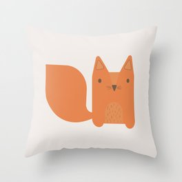 Foxy Friend Throw Pillow