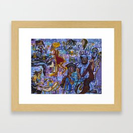 Jazz Squares Framed Art Print