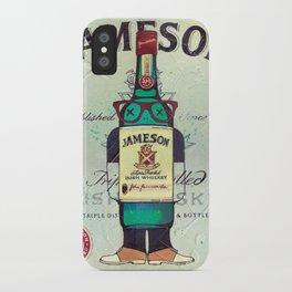 Irish Whiskey cartoon illustration original painting print iPhone Case