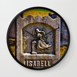 Isabell's Beauty Lingers Wall Clock